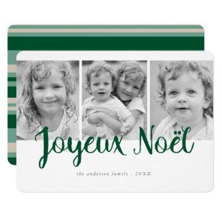 Joyeux Noel Modern Holiday Photo Card