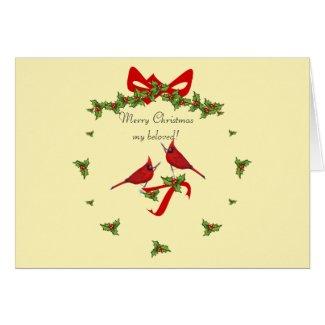 Joyeux Noël mon amour! Card