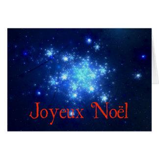 Joyeux Noel - Night Sky Greeting Card