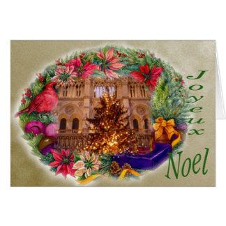 JOYEUX NOEL NOTRE DAME GREETING GREETING CARD