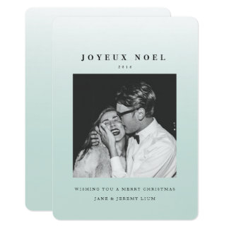 Joyeux Noel Ombre Christmas Photo Card