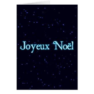Joyeux Noel On Starfield Greeting Card