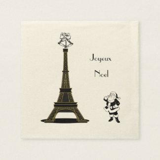 Joyeux Noel Paris French Christmas Paper Napkins