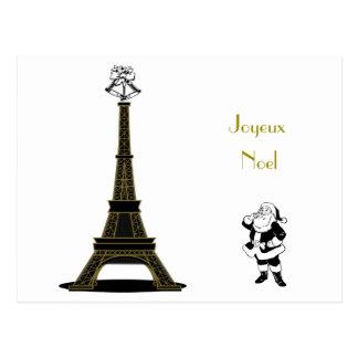 Joyeux Noel Paris French Christmas Postcard
