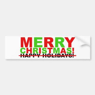 Joyeux Noël ! (pas bonnes fêtes) Autocollant De Voiture