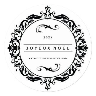 "Joyeux Noël Photo Card 5.25"" Square Invitation Card"