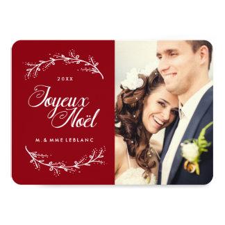 "Joyeux Noel Photo Cards 4.5"" X 6.25"" Invitation Card"