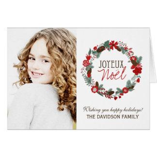 Joyeux Noel Photo Greeting Card