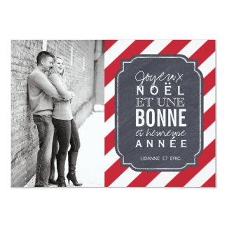 "Joyeux Noel Photocards 4.5"" X 6.25"" Invitation Card"