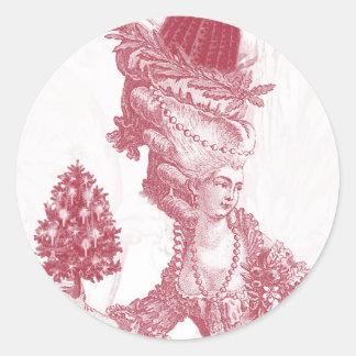 Joyeux Noel (rouge) Classic Round Sticker