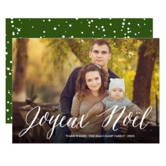 Joyeux Noel Simple Script Christmas Photo Card