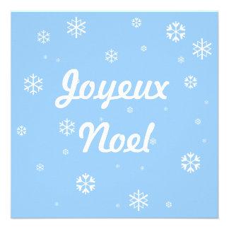 Joyeux Noel Snowflakes Invites