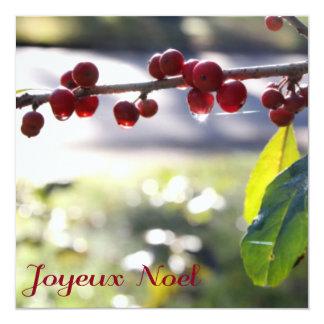 Joyeux Noel Square Card