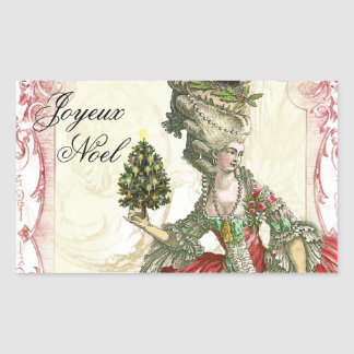 Joyeux Noel Rectangular Sticker