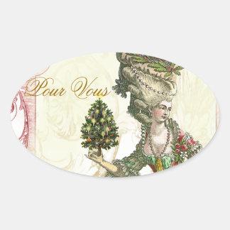 Joyeux Noel Oval Sticker