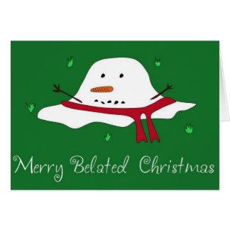 Joyeux Noël tardif Cartes De Vœux