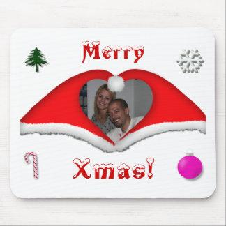 Joyeux Noël une photo dans Noël-chapeaux en forme  Tapis De Souris