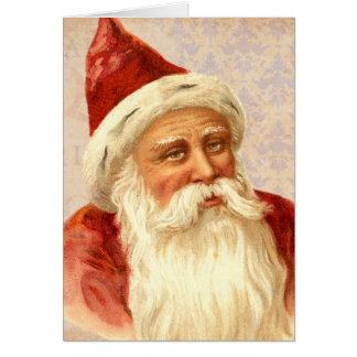 Joyeux Noël vintage bon Père Noël démodé Carte De Vœux