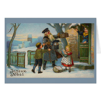 """Joyeux Noel Vintage Christmas Card"""