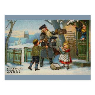 """Joyeux Noel Vintage Christmas Card"" Postcard"