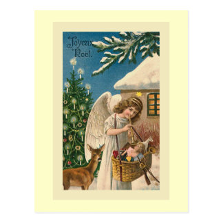 """Joyeux Noel Vintage Christmas Card"" Postcards"