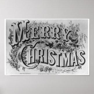"""Joyeux Noël"" vintage circa 1876 Posters"