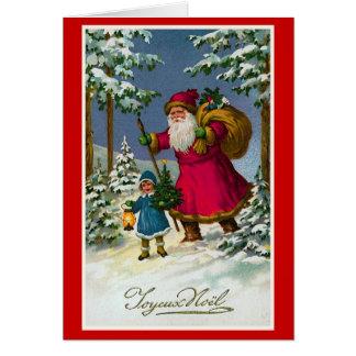 """ Joyeux Noel"" Vintage French Christmas Greeting Card"