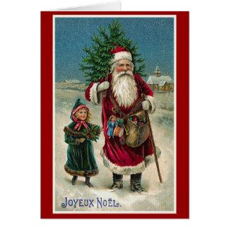 """Joyeux Noel"" Vintage French Christmas Greeting Card"