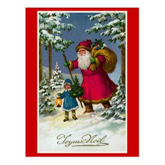 """ Joyeux Noel"" Vintage French Christmas Postcard"