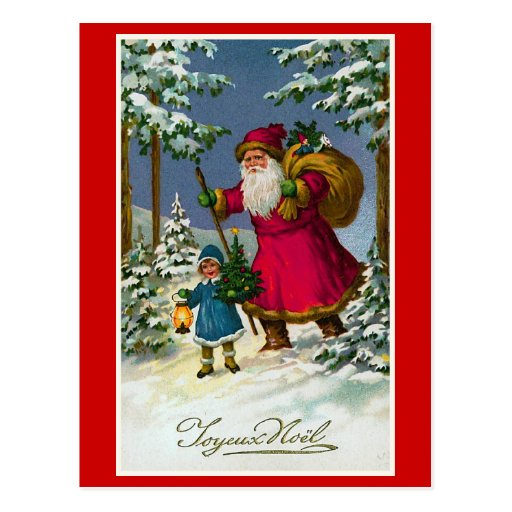 """ Joyeux Noel"" Vintage French Christmas Post Card"