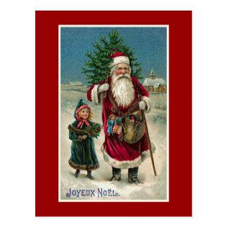 Joyeux Noel Vintage French Christmas Postcard