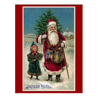 """Joyeux Noel"" Vintage French Christmas Postcard"