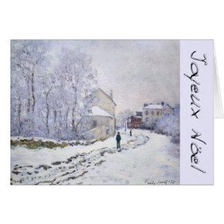 Joyeux Noel with C Monet French Christmas Greeting Greeting Card