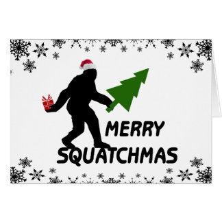 Joyeux Squatchmas Cartes