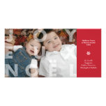Joyeux transparent Noel dans le carte photo rouge Cartes Avec Photo