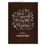 Joyeux type carte de voeux de Noël