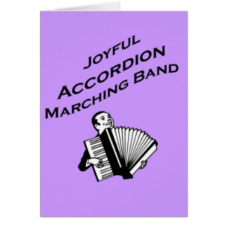 Joyful Accordion Marching Band Card