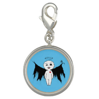 Joyful angel photo charm