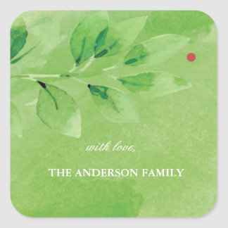 Joyful Branches Personalized Christmas Stickers