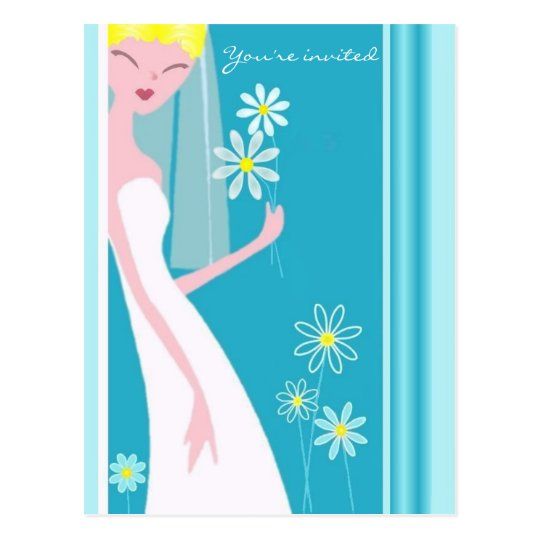 JOYFUL BRIDE POSTCARD
