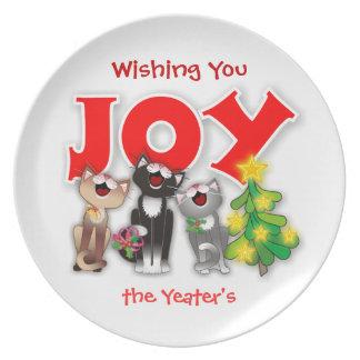 Joyful Cat Plate