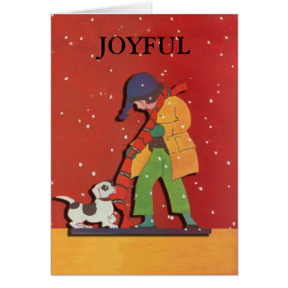 Joyful Christmas and Holiday Card