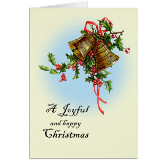 Joyful Christmas Bells Greeting Card