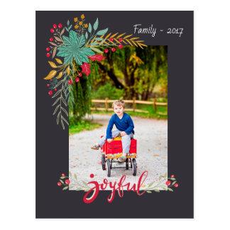 Joyful Christmas postcard