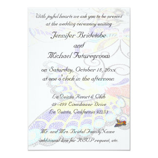 Joyful Colorful Butterfly Wedding 5x7 Paper Invitation Card