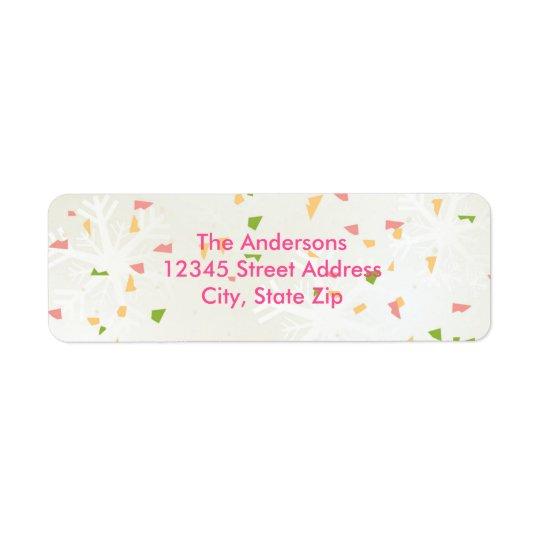 Joyful Confetti - Address Label
