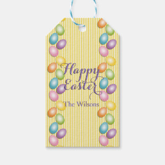 Joyful Easter Eggs Family or Business Name Pack Of Gift Tags