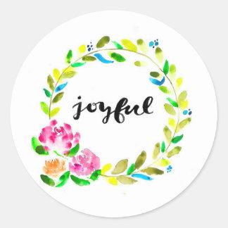 Joyful Floral Watercolour Sticker