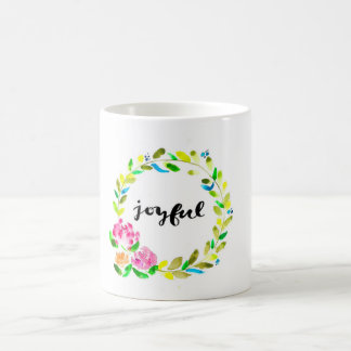 Joyful Floral Wreath Mug