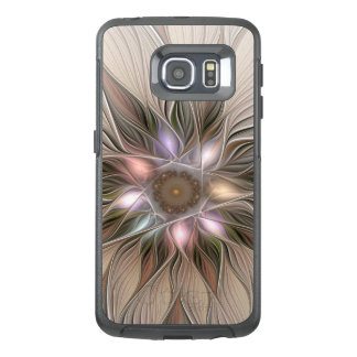 Joyful Flower Abstract Beige Brown Floral Fractal